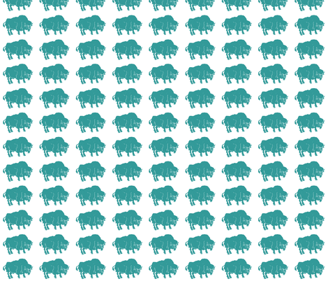 IMG_7247-3 Turquoise Buffalo fabric by bad_penny on Spoonflower - custom fabric
