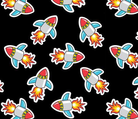 Rocket! fabric by tessiegirldesigns on Spoonflower - custom fabric