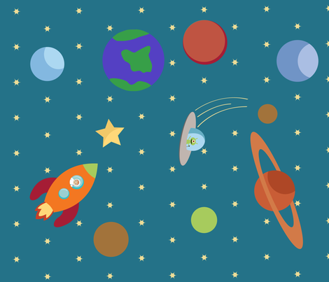 Space Explorer fabric by bella_modiste on Spoonflower - custom fabric