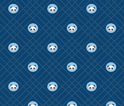 Pandamonium Sashiko Dots fabric by 2cutequilts on Spoonflower - custom fabric