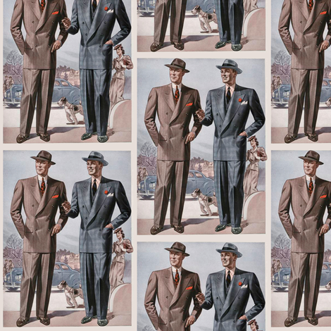 Who's the Tiny Dame with the great Gams? fabric by susaninparis on Spoonflower - custom fabric
