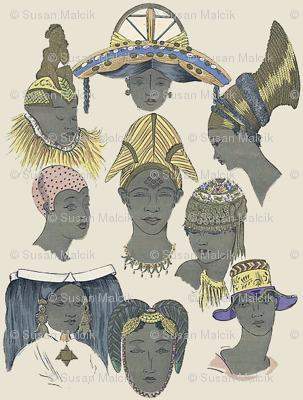 Small African Female Heads