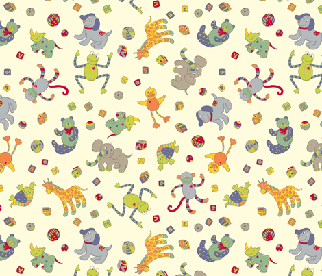 AM_BabyBoy-Softies fabric by amandamcgee on Spoonflower - custom fabric