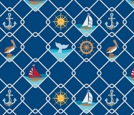 Sailing the High Seas fabric by wildnotions on Spoonflower - custom fabric
