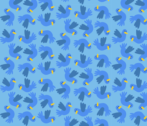 Birdies fabric by beingreen on Spoonflower - custom fabric