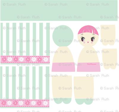 Mint Bunka Doll Pattern