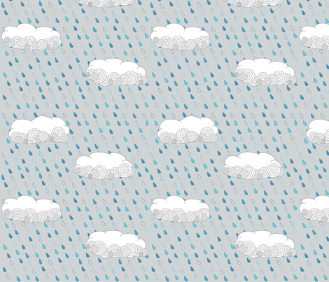 Rainy Days fabric by wildnotions on Spoonflower - custom fabric