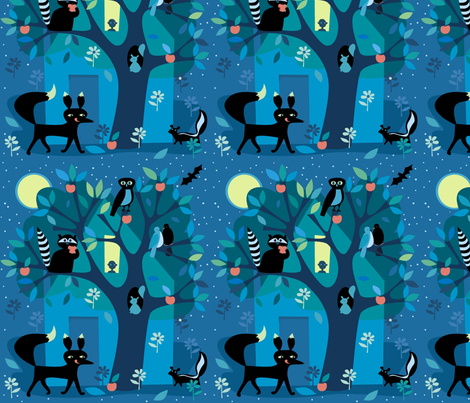Good_Night fabric by antoniamanda on Spoonflower - custom fabric