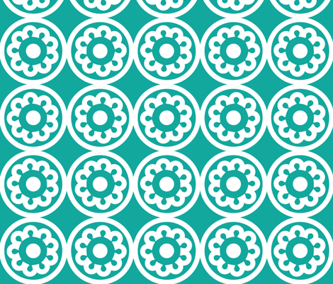 Circle Lattice Cookie Foam fabric by dolphinandcondor on Spoonflower - custom fabric