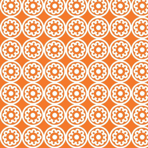 Circle Lattice Cookie Orange