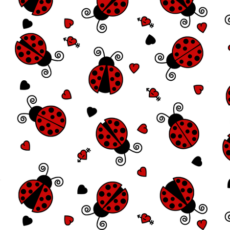Love Bug Ladybugs fabric by jsdesigns on Spoonflower - custom fabric