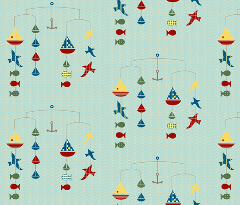 lakeside mobile fabric by krihem on Spoonflower - custom fabric