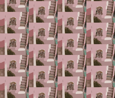 God Lives in our Hotel on Capri - small print size fabric by susaninparis on Spoonflower - custom fabric