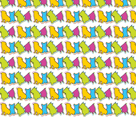 Dawgs fabric by gg33 on Spoonflower - custom fabric