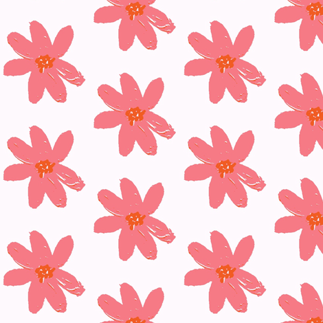 daisy pink ©2012 Jill Bull fabric by palmrowprints on Spoonflower - custom fabric