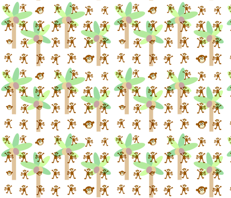 monkey palms fabric by paragonstudios on Spoonflower - custom fabric
