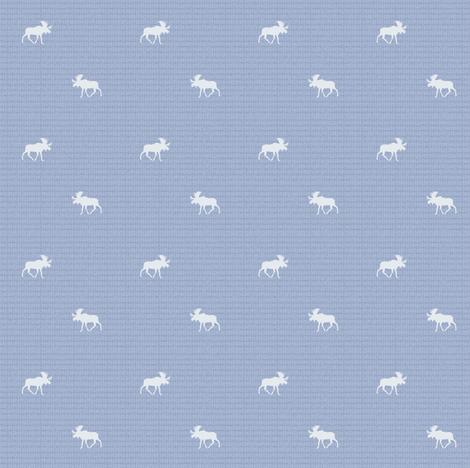 denim moose ©2015 fabric by palmrowprints on Spoonflower - custom fabric