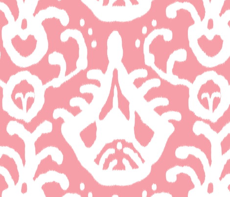 Warm Pink ikat fabric by domesticate on Spoonflower - custom fabric