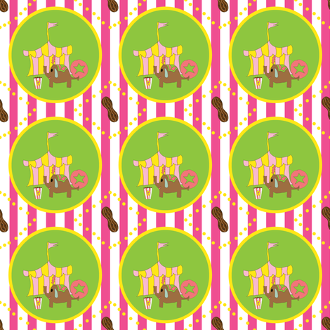 circus peanut (girl) fabric by fabricfarmer_by_jill_bull on Spoonflower - custom fabric