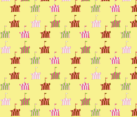 circus_tents (girl) fabric by fabricfarmer_by_jill_bull on Spoonflower - custom fabric