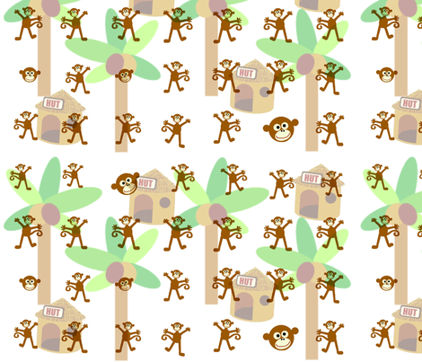 monkey_hut fabric by paragonstudios on Spoonflower - custom fabric