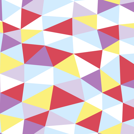triangle twist - multi fabric by flowerpress on Spoonflower - custom fabric