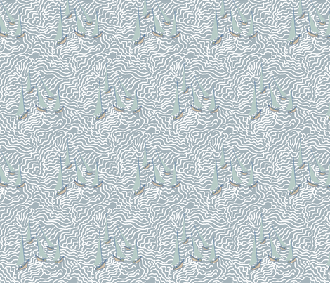 Sailboats fabric by deepcoveflowers on Spoonflower - custom fabric