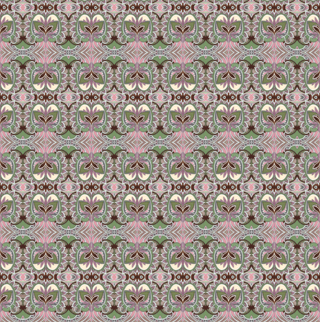 Little Old Fashioned Gray Sprout fabric by edsel2084 on Spoonflower - custom fabric