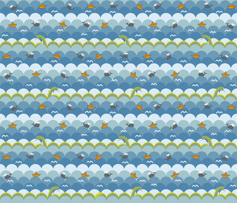 origami_boats fabric by therubyredrocket on Spoonflower - custom fabric