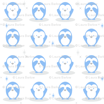 Baby Boy Blue Penguins
