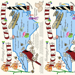 NC Postcard Placemat