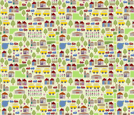 a little map fabric by scrummy on Spoonflower - custom fabric