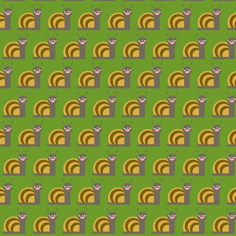 Snail fabric by heidikenney on Spoonflower - custom fabric