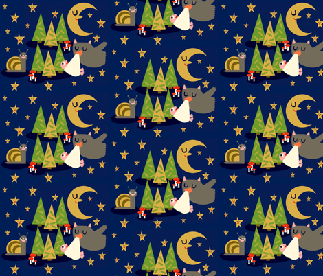 Moon Baby fabric by heidikenney on Spoonflower - custom fabric