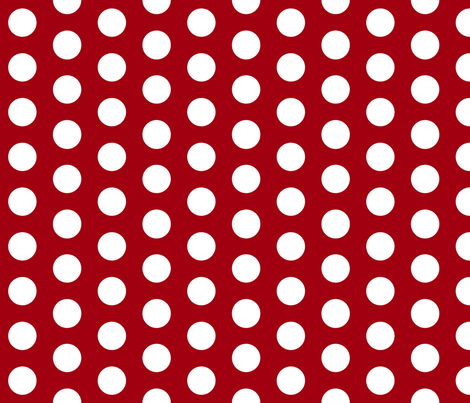 Red with White Polk A Dot fabric by mayabella on Spoonflower - custom fabric