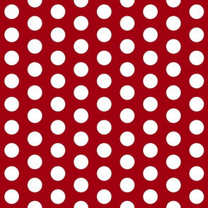 Red with White Polk A Dot