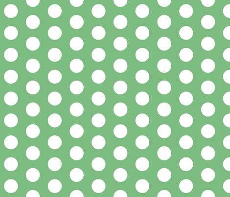 Light Green with White Polk A Dot fabric by mayabella on Spoonflower - custom fabric