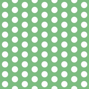 Light Green with White Polk A Dot