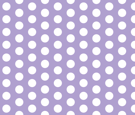 Lavender with White Polk A Dot fabric by mayabella on Spoonflower - custom fabric