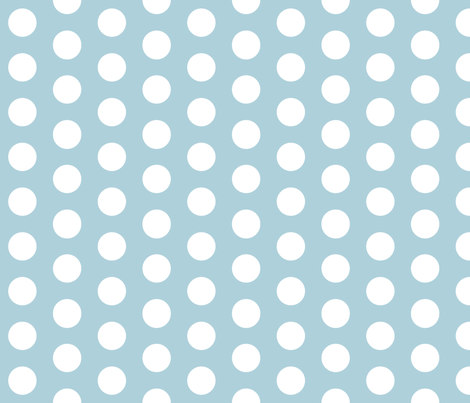 Light Blue with White Polk A Dot fabric by mayabella on Spoonflower - custom fabric