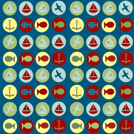 lakeside icons fabric by krihem on Spoonflower - custom fabric
