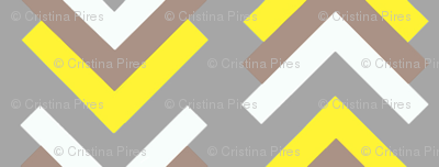 boomerang grey tan yellow