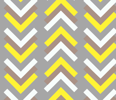boomerang grey tan yellow fabric by cristinapires on Spoonflower - custom fabric