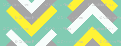 boomerang aqua yellow grey