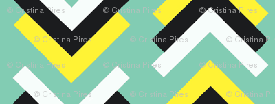 boomerang aqua blue yellow black