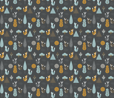 FoxForest fabric by sharbear123 on Spoonflower - custom fabric