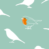 A redbreast among sparrows