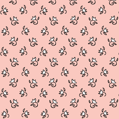 Tiny Girl Flowers fabric by pond_ripple on Spoonflower - custom fabric