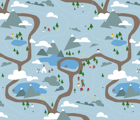 Oberland fabric by theboerwar on Spoonflower - custom fabric