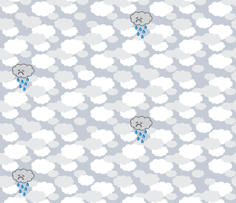 Sad Little Rain Cloud fabric by robyriker on Spoonflower - custom fabric